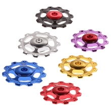 2Pc Colorful Bicycle Rear Aluminum Alloy Derailleur Jockey Wheel Road MTB Bike Guide Roller Idler Pulley Part Cycling Parts - Traveling Light123 store