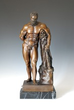 ATLIE BRONZES Classical Arts nude Man Hercules sculpture Titan Bronze Figurine Home Decoration antiques sculptures(China)