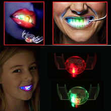 Halloween LED Light up Flashing Mouth Piece Glow Teeth Rave Party Toy Festive Party Supplies Prank Props #255003(China)