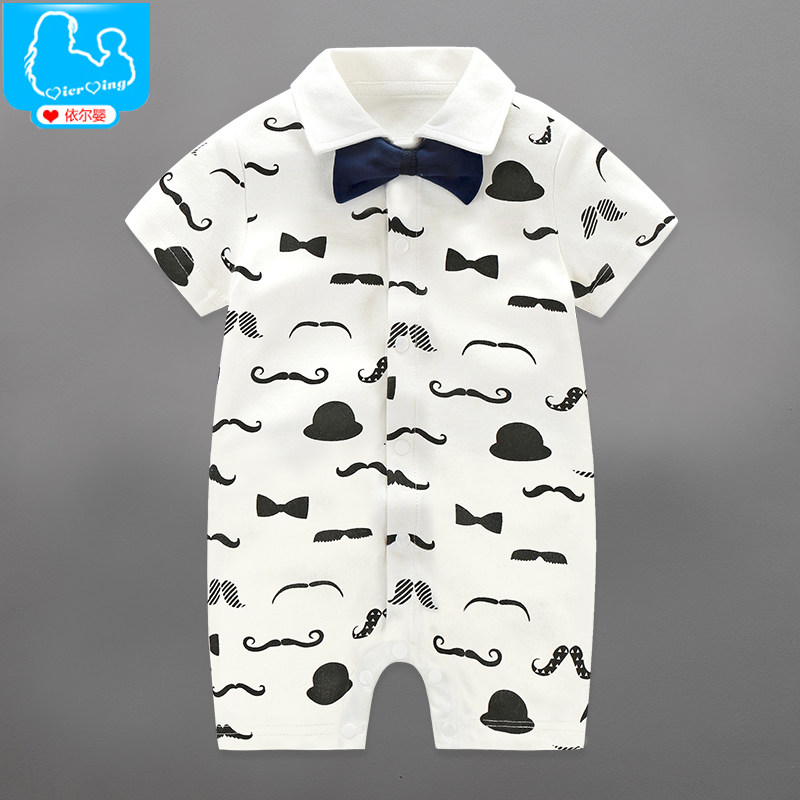 2017 Summer Newborn Baby Boy Rompers Gentleman Clothing Set Cotton Bow Tie Leisure Body Suit Toddler Jumpsuit Baby Boys Clothes<br><br>Aliexpress