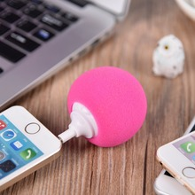 Portable Mini Sponge Ball Phone Speaker Audio Colorful Balloon Wave Ball Speaker for phone tablet PC