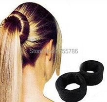 Black Classic French Hair Roller Spiral Bun Updo Fold Wrap Snap Hair Maker Braid Ponytail Hairstyle Styling Tool DIY Accessory