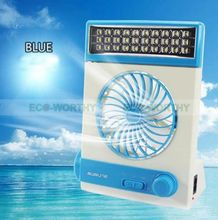 Solar panel mini fan Rechargeable Solar Or Ac Charged Combo Fan with LED Lantern Light & Flashlight(China)
