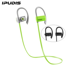 IPUDIS Sports Bluetooth Earphone Ear Hook Earbuds Wireless Headphone Noise Calcelling Portable Headsets 80mAh with MIC