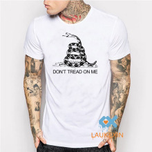 Dont Tread on Me Gadsden flag T Shirt Tea Party Casuals Tee T-Shirt camisetas Summer Style Fashion Merry Christmas Gifts Shirt(China)