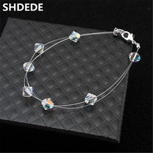 SHDEDE Fashion Rhinestone Bracelet Crystal from Swarovski Women Charm Bracelets Jewelry Brand Design Popular 22522
