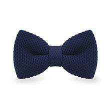 LF-314 Fashion New Arrival Knitted Crochet Men`s Bowties Adjustable Darkblue Solid Neckwear For Party Bussiness Free Shopping
