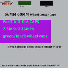 20Pcs ABS 56mm wheel center caps PVC 60mm 2.36inch green /black Auto Wheel Logo glue sticker Car Wheel emblem center caps