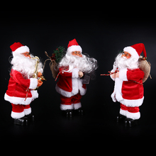 Santa Claus Electric Christmas Toys Christmas Decors for House Dancing Singing Christmas Ornament Home Party Decor free ship(China)