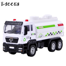 1:55 Alloy Sprinkler Car Toy Engineering Car Garbage Truck Crane Fire Engines Models Dump Truck Classic Educational Toy Boy Gift