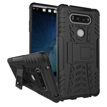 For LG V20 V 20 PC + Silicone Dual Layer Skin Rugged Combo KickStand Armor Case For LG V20 Military Skid Tired Hard Impact Cover