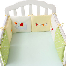 Buy 6/12pcs Baby Bed Bumper Baby Crib Cotton Fox Baby Elephant Bedding Set Newborn Back Cushion Pillow Cot Bumper Protector for $18.59 in AliExpress store