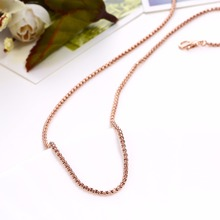 1.5mm High quality Rose gold colour 316L stainless steel chains for Necklace Pendant
