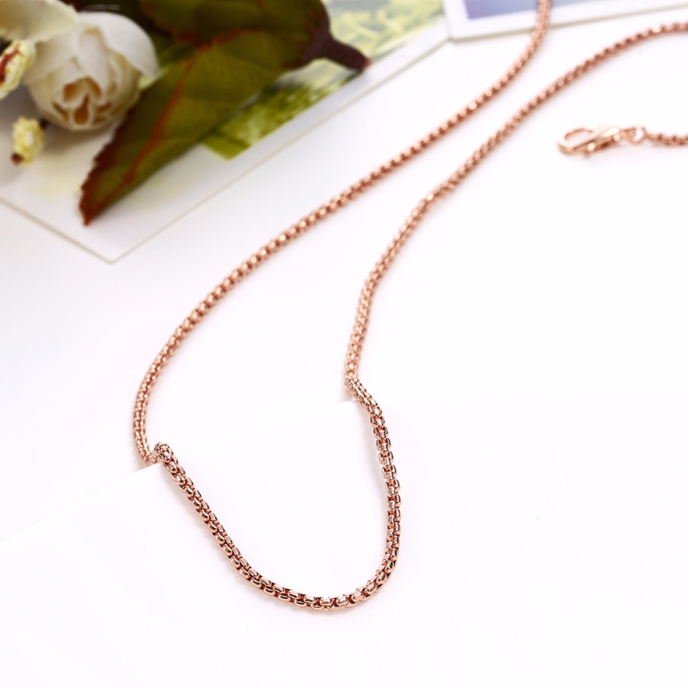1.5mm High quality Rose gold colour 316L stainless steel chains for Necklace Pendant(China (Mainland))