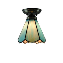 "6"" Retro Tiffany Ceiling Lamp European Glass Lampshade Flush Mount Light Hallway Dining Room Living Room Lighting Fixture CL243"