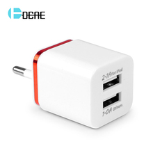 Buy 5V 2.1A /1A Smart Travel Dual USB Charger Adapter Wall Portable US EU Plug Mobile Phone Charger iPhone Samsung Xiaomi Tablet for $1.48 in AliExpress store