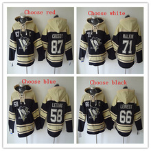 High quality ! Men's #87 Sidney Crosby #71 Evgeni Malkin#66 LEMIEUX #58Kris Letang Ice Jersey Hoodie Quick delivery(China)