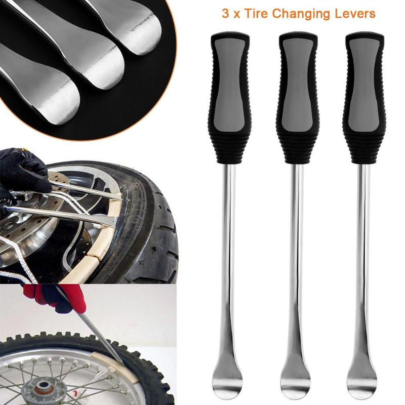 Bike Tire Iron Modified Kit 3pcs Motorcycle Tire Changer Tire Lever Tool Spoon Heavy Duty