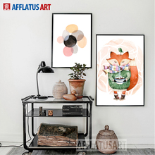 AFFLATUS Minimalism Modern Watercolor Abstract Canvas Painting Fashion Style Wall Art Print Wall Pictures For Living Room Decor