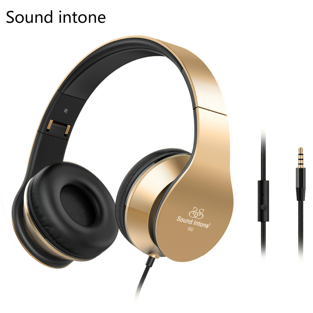 I60 Stereo Headphones HIFI Over ear headfone Lightweight auriculares with mircrophone for mobile phone Foldable casque audio<br><br>Aliexpress