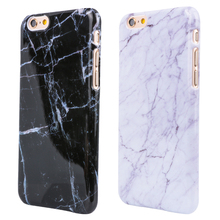 Marble Texture Pattern Mobile Phone Rear Cover for iPhone 5 5S SE 6 6S 6Plus 7 7Plus Smooth Top Quality Hard PC Skin Phone Cases(China)
