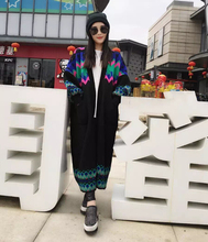 The spring and Autumn period, a South Korean retro sweater coat female cardigan in the long thick loose knit Korean fan.(China)