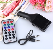 High Quality  Wireless MP3 Player Auto FM Transmitter Modulator LCD Car Kit USB Charger SD MMC
