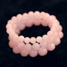 Artificial Powder Crystal Bracelet Women 's Fashion Wild Powder Crystal Flour Peach Hand String Of Women' s Life Jewelry(China)