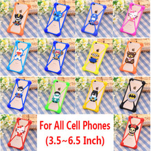 Universal cell phone model Cartoon winnie teddy bear minion stitch original soft silicone case for homtom ht17 case cover