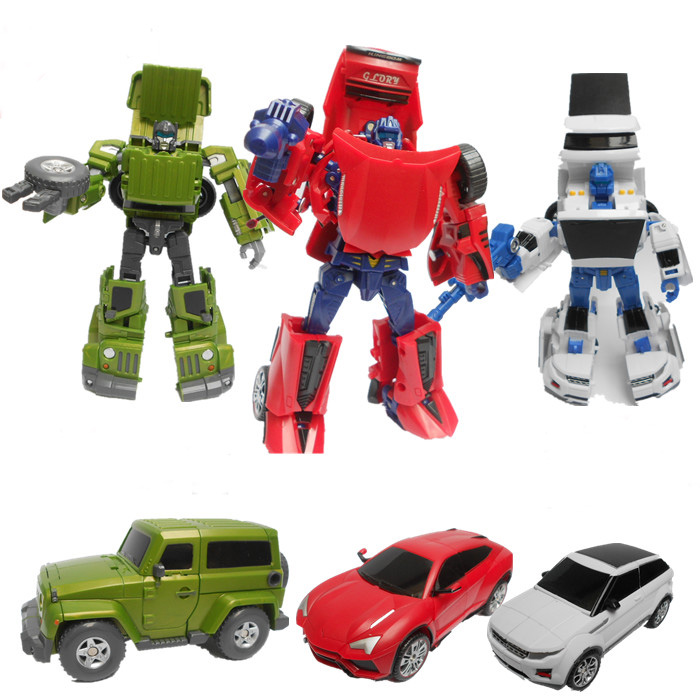 Deformation toys king kong Wei will adjust the car team car barricade searchlight amplification to v robotics<br><br>Aliexpress