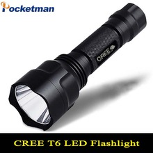 LED hunting Flashlight Torch 5 Modes Powerful Flashlight Cree Led Torch C8 Cree T6 light lantern nitecore For 1x18650 ZK93(China)