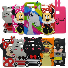 3D Cartoon Cherry Ice Cream Minnie Stitch Silicon Cover For Huawei Ascend P9 Casing Rubber Phone Case For Huawei P9 Lite(China)