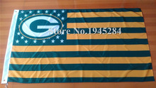 NFL Green Bay Packers US Star Stripe Flag 3x5ft 150X90cm Banner Polyester Flag 2, free shipping(China)