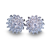 DM Trendy Small Hot White Stud Earrings For Women(China)