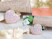 100% real capacity Best selling, pink flower Jewelry Heart shape USB Drive Flash 8GB 16GB USB Flash Disk\S360