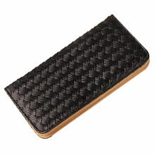 Women Lady Weave Coin Purse Card Holder Long Thin Wallet woman wallet leather monederos mujer  shop