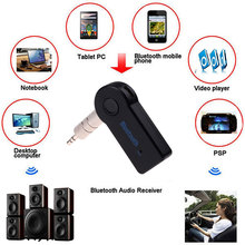 Handsfree Bluetooth 3.0 Car Kit Wireless 3.5mm Streaming A2DP Car Auto Audio Music Receiver Video Player Function Microphone USB(China)