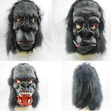 2016 Scary Horror Big Ear Donkey Kong Latex Gorilla Masks Full Face Halloween Props Adult Man Costumes Masquerade Party Suppies(China)