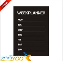 Free shipping Diy week planner chalkboard calendar Vinyl Wall Decal Removable Planner mural wallpaper vinyl Wall Stickers ZY201