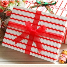 Limited 18*15*7cm 10 Pcs Lucky Red Paper Box For Cookie Cake Candy Chocolate Packaging Valentines New Year Christmas Gift Use(China)
