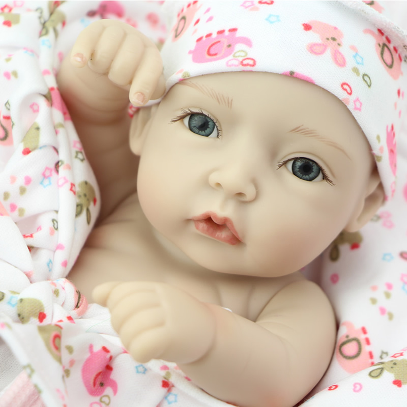 NPK Mini Real Life Like Reborn Baby Dolls 11 Inch Lifelike Newborn Girl Babies With Lovely Clothes Kids Birthday Gift<br><br>Aliexpress