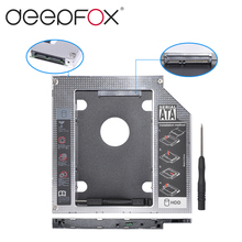 "2nd HDD Caddy SATA 3.0 To SATA 2.5"" SSD HDD Case 9.5mm Universal Aluminum Metal Material For Laptop ODD CD-ROM DVD-ROM OptiBay"