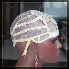 3pcs full caps lace wig caps for making wigs Free Size wig net cap weaving caps with adjustable straps back(China)