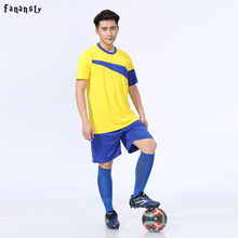Thai quality custom football uniforms men breathable soccer set youth soccer jerseys men survetement football 2017 new