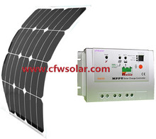 30W solar panel manufacturers in china with connection Box + 0.9M cable, 12V&24V Auto MPPT solar charege controller.