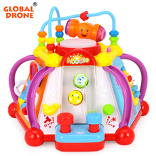 Baby Enlightenment Toys Musical Activity Cube Play Center with Lights,15 Functions & Skills Learning & Educational Toys For Kids