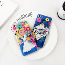 For iPhone 6 6 Plus 7 7 Plus Colorful Disneys Cartoon Figure Alice's Adventures in Wonderland -090116
