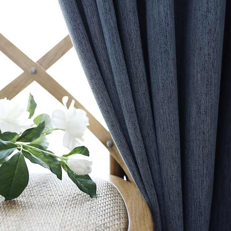 YCENTRE Faux Linen Solid Color Blackout Curtain Window Treatment Drapes Noise Blocking Curtains Blinds for Bedroom Living Room