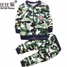 winter Kids Clothes Camouflage Thicker Baby Boys Clothing Set Toddler Boy Clothing Boutique Children Kids girls Costume suit(China)