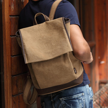 2017 New Muzee men's school backpack casual canvas travel back pack vintage daypack rucksack mochila masculina ME9090